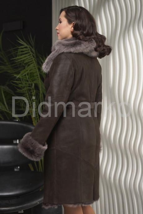 Зима 2021-22 Дубленка с не стриженным мехом тоскана