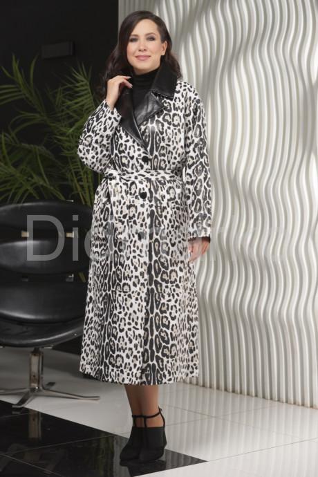 Купить Кожаный плащ с принтом леопарда в Москве и Санкт-Петербурге