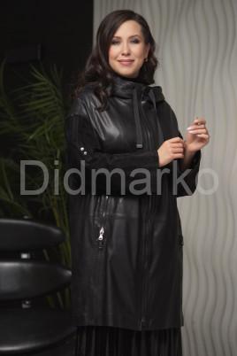 Женский кожаный плащ с капюшоном 2021