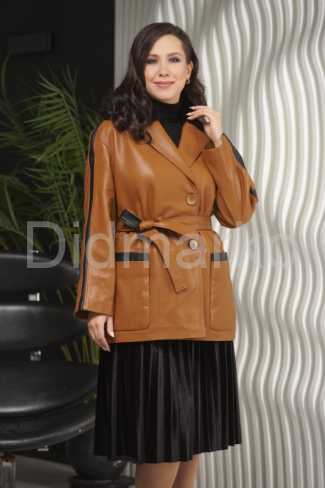 Купить Стильный удлиненный пиджак с мехом норки в Москве и Санкт-Петербурге