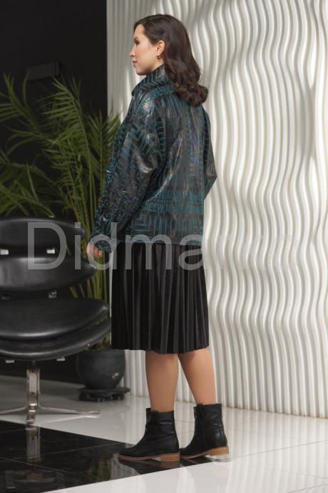 Изумрудная кожаная куртка BONI