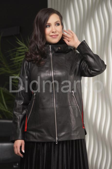 Купить Женская кожаная куртка с капюшоном больших размеров в Москве и Санкт-Петербурге