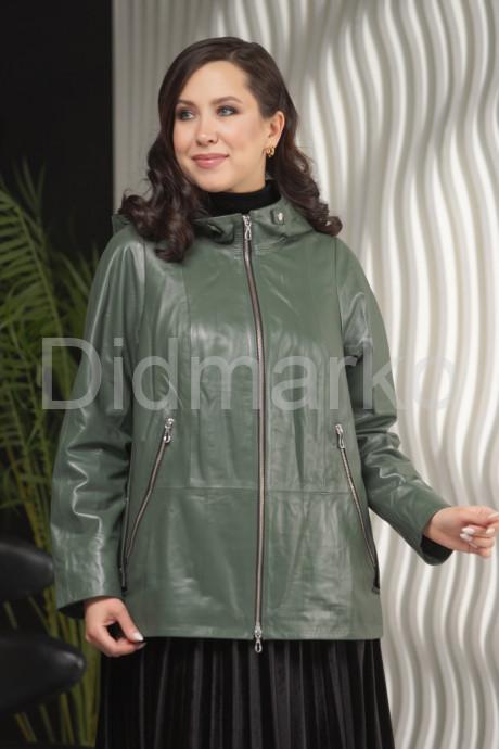 Купить Кожаная куртка с капюшоном цвета хаки в Москве и Санкт-Петербурге