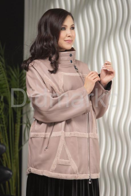 Купить Пудровая кожаная куртка больших размеров в Москве и Санкт-Петербурге