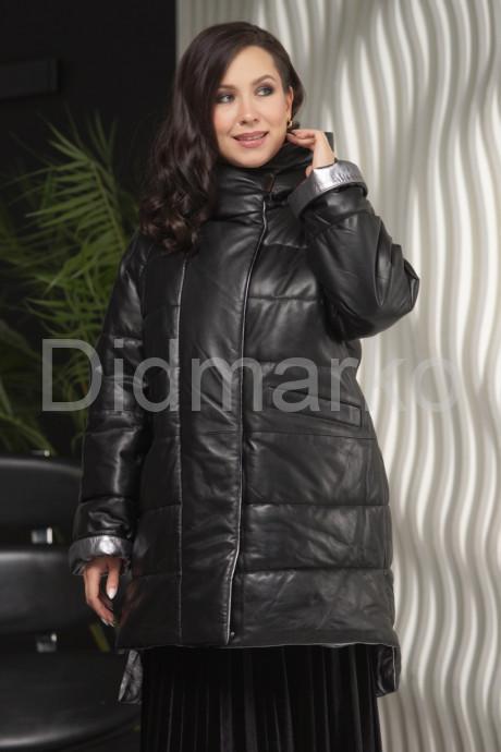 Купить Зимняя кожаная куртка с капюшоном больших размеров в Москве и Санкт-Петербурге