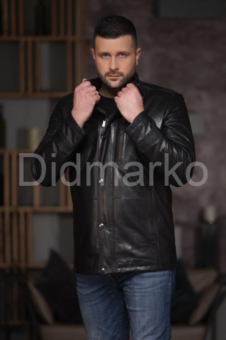 Купить Демисезонная кожаная куртка мужская в Москве и Санкт-Петербурге