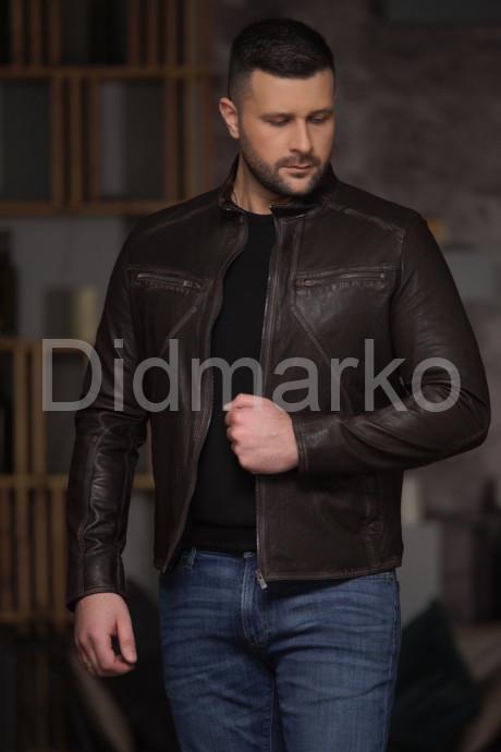Мужская кожаная куртка Весна - Осень 2021