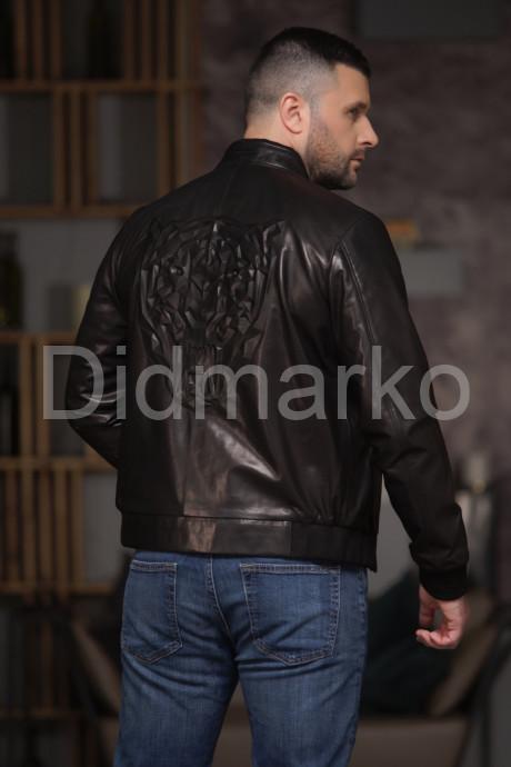 Дизайнерский кожаный бомбер Ягуар