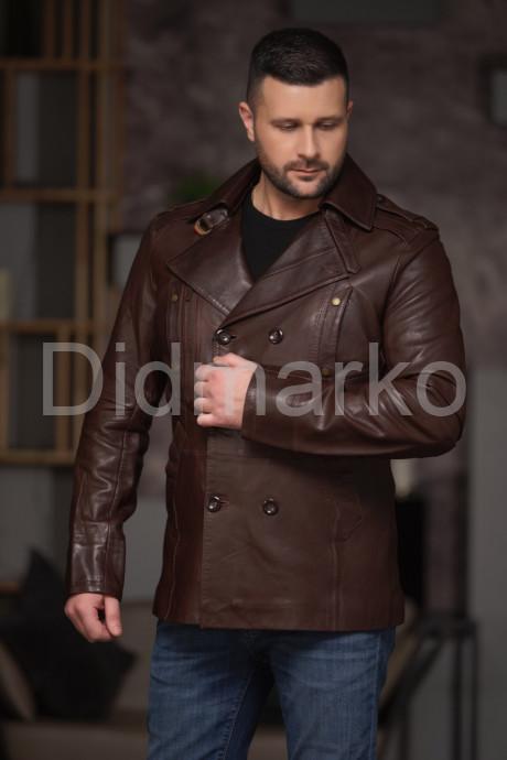 Купить Мужской двубортный кожаный пиджак в Москве и Санкт-Петербурге