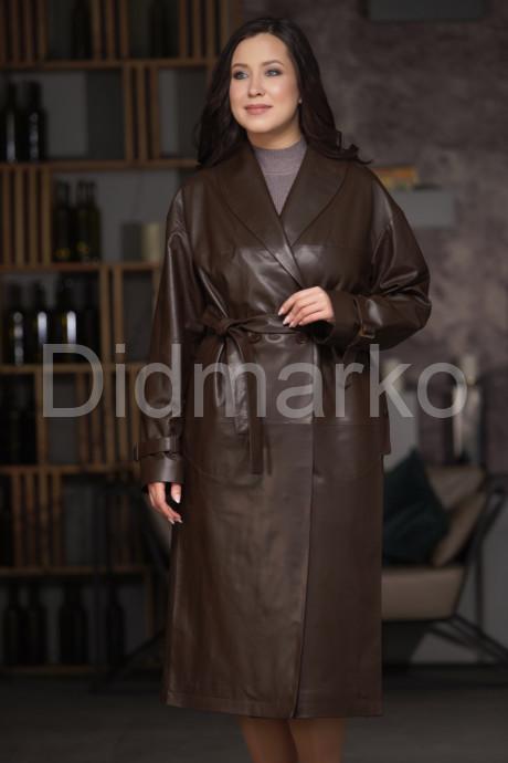 Купить Классическое двубортное пальто из натуральной кожи в Москве и Санкт-Петербурге