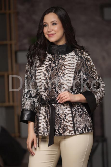 Купить Кожаная куртка под питон в Москве и Санкт-Петербурге