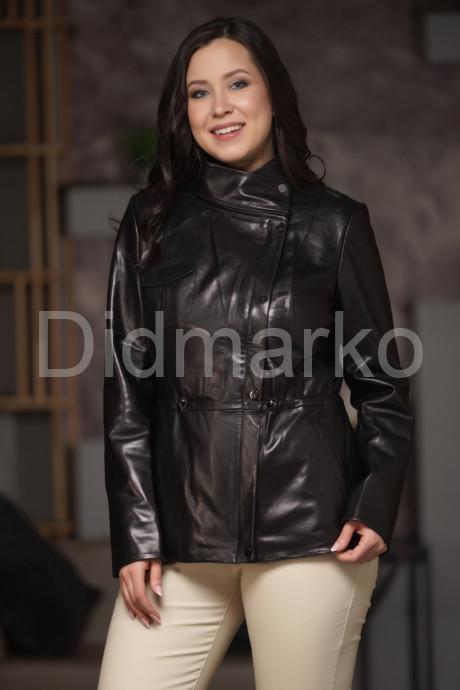 Купить Кожаная куртка со съемным капюшоном и воротником стойкой в Москве и Санкт-Петербурге